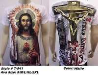 shirts, GRAPHIC religious ,of Jesus christ. S XXL BLK