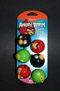 NEW Angry Birds Gone Crazy Cat Toy 6 Jingle Bell Balls 032700130633