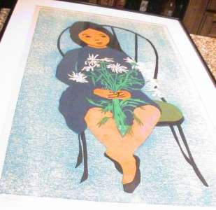Mid Century Retro Rosalind Smith SIgned #rd Print