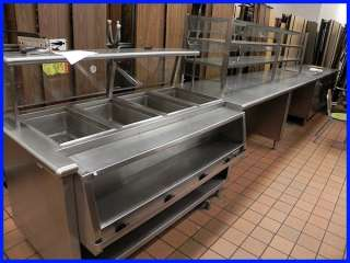 Stainless Steel Food Service Counter/Line 22 Feet Cooler Counter Top