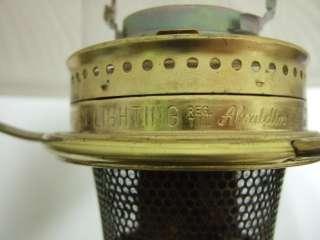 ALADDIN Oil Kerosene Lamp No. 6 Milk Glass Shade Estate Find