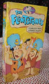 Hanna Barbera The Flintstones Fearless Fred VHS NEW