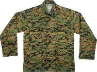 WOODLAND DIGITAL CAMOUFLAGE ARMY BDU MILITARY SHIRT