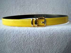 GENUINE SNAKESKIN YELLOW MENS BELT ALL SIZES AVAIABLE