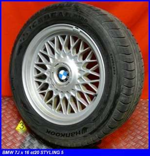 BMW 5er e39 ORIGINAL ALUFELGEN ALU 7 x 16 et20 LK 5/120 STYLING 5