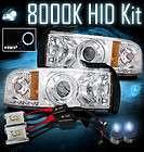 94 01 Dodge Ram Angel Eye Halo Ring Projector LED Chrome Headlights