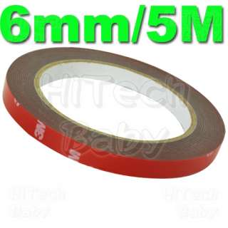 3M Acrylic Foam Pad Double Sided Waterproof Tape 6mm/5M