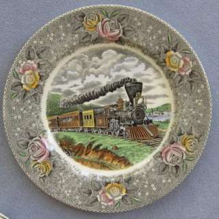 Adams Currier & Ives American Express Train Plate