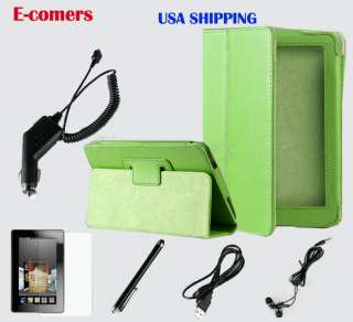 Kindle Fire 360°Rotating PU Leather Case Cover w/Swivel Stand