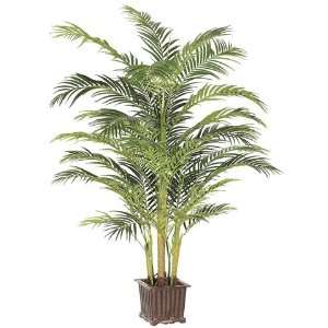 Areca Palm Tree in Wood Container Green (Pack of 2):