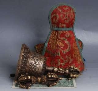Lion head & Mantra Rattles Bell Dorje Tibetan Buddhist