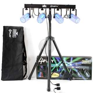 New Chauvet Glow 4PLAY CL RGB LED DMX Disco Party DJ Light Tripod
