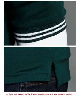 Mens Fashion Trandy Slim Fit Polo Collar Short Sleeve T Shirts Top UK