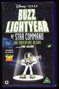 DISNEY   BUZZ LIGHTYEAR OF STAR COMMAND   VHS PAL (UK) VIDEO