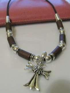 Boys Girls Gothic Cross Pendant Necklace Chain Choker