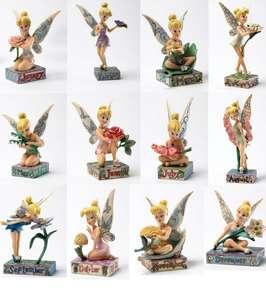 Disney Traditions Tinkerbell Months Figurine Birth flower Birthstone