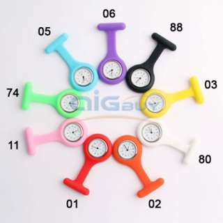 Fashion Brand New Silicone Nurses Brooch Fob Watch New
