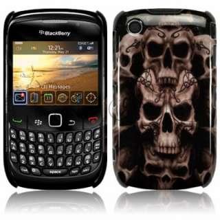 Carcasa para Blackberry Curve 8520 y 9300 3G modelo Calaveras.