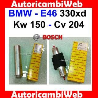 KIT TAGLIANDO FILTRI BOSCH BMW E46 330xd Kw 150 Cv 204