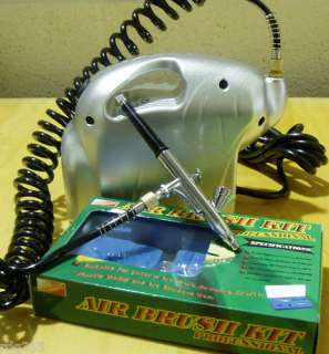 ELEPHANT AIRBRUSH KIT + AIR BRUSH COMPRESSOR NEW UK