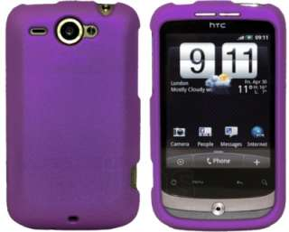 PURPLE HYBRID HARD CASE COVER FOR HTC WILDFIRE G8