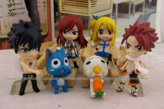 NEW SET OF 6PCS Fairy Tail Natsu / Happy / Lucy / Gray / Elza