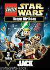 Lego Star Wars, Personalised birthday card A5 size