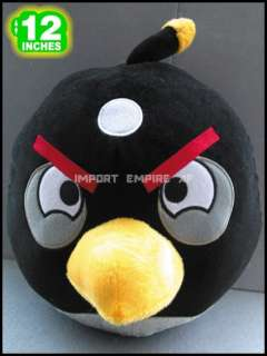 ANGRY BIRDS UCCELLO NERO PELUCHE black plush bomba bomb oiseau noir