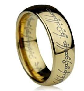 LORD OF THE RINGS 18K GOLD PLATED The One RING SZQ R187