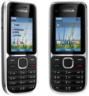 LATEST 3G Nokia C2 01 Black Mobile Phone Sim Free Unlocked No Network