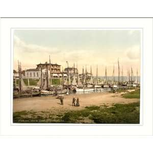 Hotels and inland harbor Busum Schleswig Holstein Germany