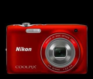 Nikon Coolpix S3100 Digital Camera Bundle (Red) 4GB Memory Card, Case