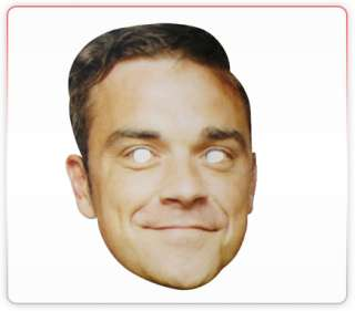 Robbie Celebrity Funny Face Mask Ideal For Fancy Dress Hen Stag Office