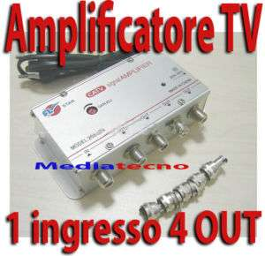 AMPLIFICATORE SEGNALE TV DIGITALE TERRESTRE SDOPPIATORE