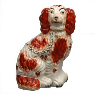 Antique Staffordshire Pottery Spaniel Wally Dog Figure