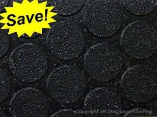 BLACK STUDDED Anti Slip Flooring Vinyl Floor   Wet Area