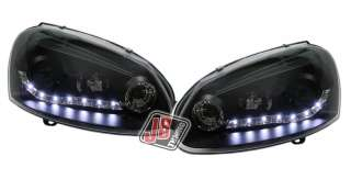 FANALI FARI ANTERIORI DAYLINE LED VW GOLF V 03 09 NERI VJ