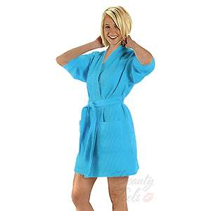 COTTON WAFFLE ROBE 36 Thigh Length Pool SPA COVER UP