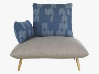 NAOKO BLUE Fabric Armchair   Bestsellers  HabitatUK