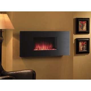 Classic Flame Zen Wall Hanging Electric Fireplace in Black  Wayfair