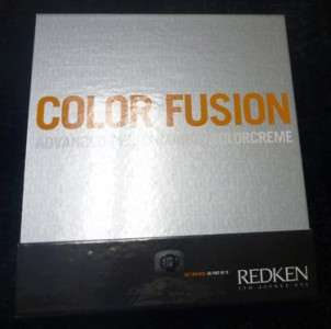 REDKEN 5TH AVENUE NYC COLOR FUSION COLORCREME HAIR COLOR SWATCH BOOK