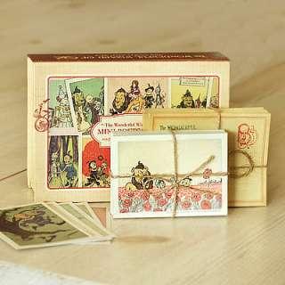Wizard Oz Mini Postcard Stationary envelope Frank Baum Paper vintage