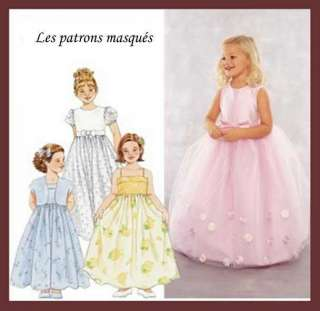   S 9147 Patron couture Robe crmonie fille T.6 8 ans
