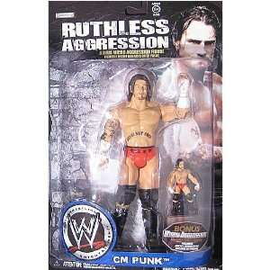 WWE Wrestling Ruthless Aggression Action Figure CM Punk Toys & Games