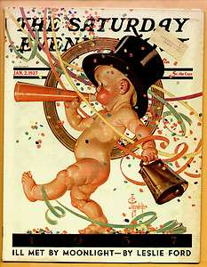 Sat Eve Post Magazine SEP January 2,1937 Leyendecker Cover