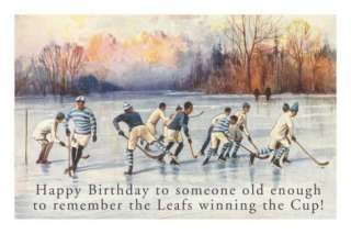 Happy Birthday to Old Hockey Fan Posters at AllPosters
