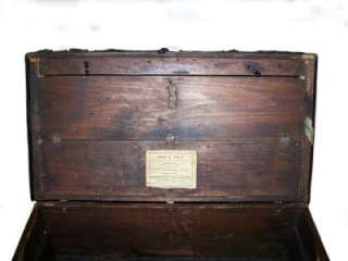 19th C. ANTIQUE JENNY LIND STAGE COACH SARATOGA TRUNK