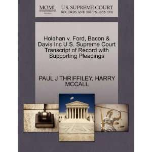 Holahan v. Ford, Bacon & Davis Inc U.S. Supreme Court