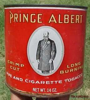 THIS IS MARKED: PRINCE ALBERT CRIMP CUT, LONG BURNING, PIPE AND