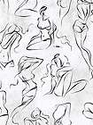 Wallpaper Risky Buisness Barely There Black & White Sketches of Women